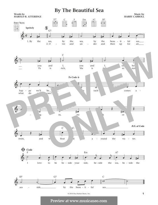 By the Beautiful Sea (Spike Jones): para ukulele by Harold Richard Atteridge, Harry Carroll