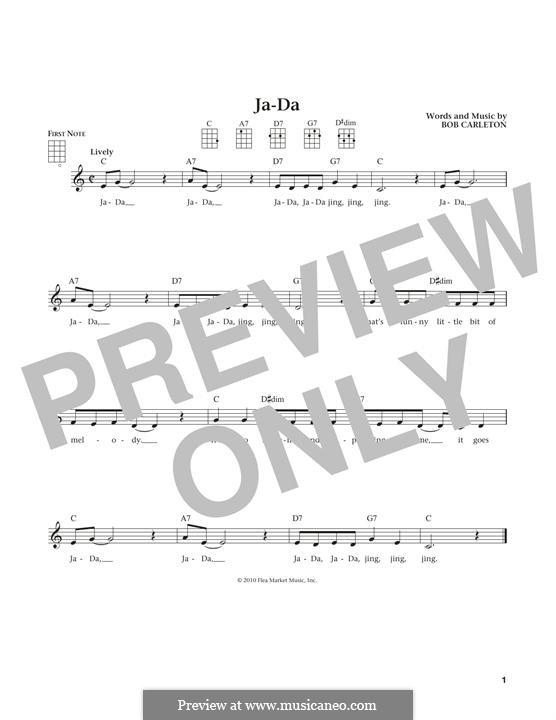 Ja-Da: para ukulele by Bob Carleton