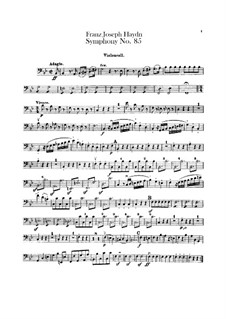 Symphony No.85 in B Flat Major 'The Queen', Hob.I/85: parte violoncelo by Joseph Haydn