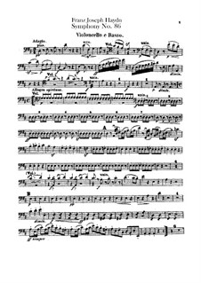 Symphony No.86 in D Major, Hob.I/86: parte violoncelo e contrabaixo by Joseph Haydn