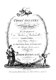 Piano Trios (Collection), Hob.XV: No.21-23 by Joseph Haydn