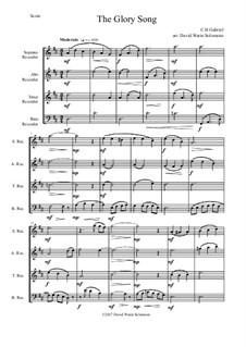 Variations on the Glory Song: Para quarteto gravado by Charles Hutchinson Gabriel