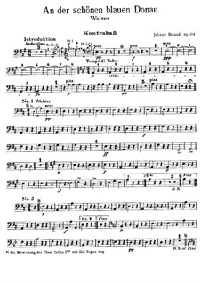 On the Beautiful Blue Danube, Op.314: Parte contrabaixo by Johann Strauss (Sohn)