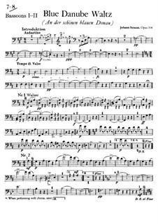 On the Beautiful Blue Danube, Op.314: parte Fagotes by Johann Strauss (Sohn)