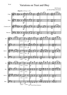 Trust and Obey: Variations, for wind quartet by D. B. Towner