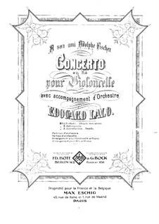 Cello Concerto in D Minor: parte violoncelo by Édouard Lalo