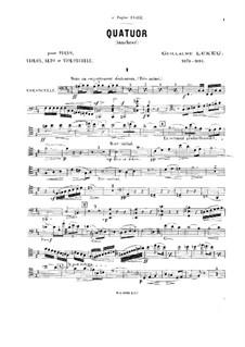 Piano Quartet in B Minor: parte violoncelo by Guillaume Lekeu