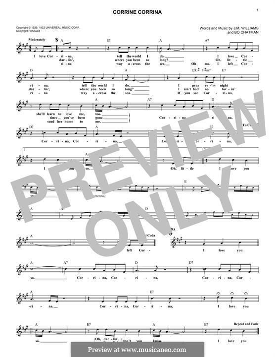 Corrine Corrina: melodia by Bo Chatman