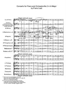 Piano Concerto No.2, S.125: Partitura completa by Franz Liszt