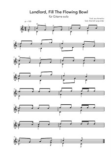 Landlord, Fill The Flowing Bowl: C Major by folklore