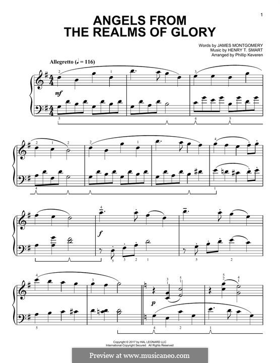 Angels, from the Realms of Glory: Para Piano by Henry Smart
