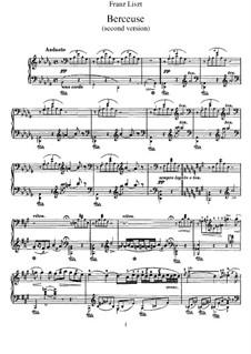 Lullaby, S.174: segunda versão by Franz Liszt
