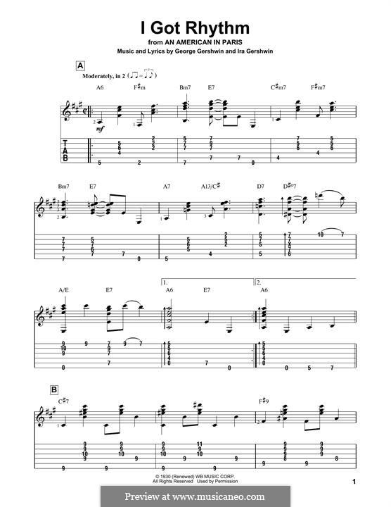 I Got Rhythm: Para guitarra com guia by George Gershwin
