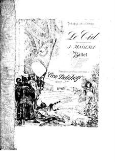 Le Cid: arranjos para piano de quatro mãos by Jules Massenet