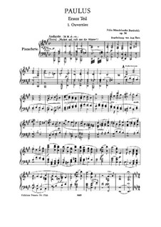 St. Paul, Op.36: Partitura Piano-vocal by Felix Mendelssohn-Bartholdy
