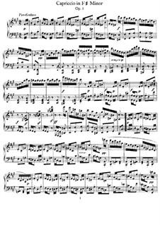 Capriccio in F Sharp Minor, Op.5: Para Piano by Felix Mendelssohn-Bartholdy