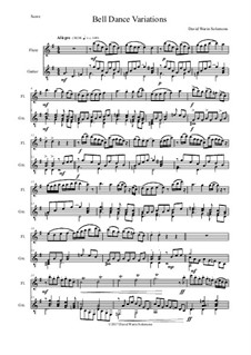 Bell Dance: Variations, for flute and guitar by David W Solomons