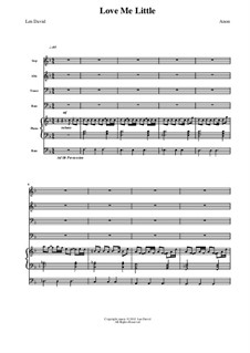 Love me Little: partitura completa by Len David
