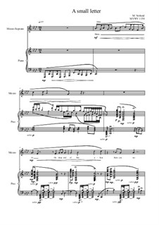 Songs of love for Mezzo and Piano No.3, MVWV 1150: Songs of love for Mezzo and Piano No.3 by Maurice Verheul