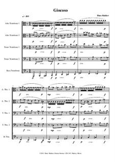 Giocoso & Allegretto for trombone quintet: Giocoso & Allegretto for trombone quintet by Hans Bakker
