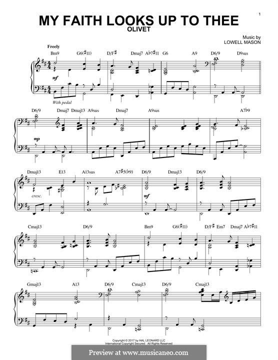 My Faith Looks Up to Thee: Para Piano by Lowell Mason