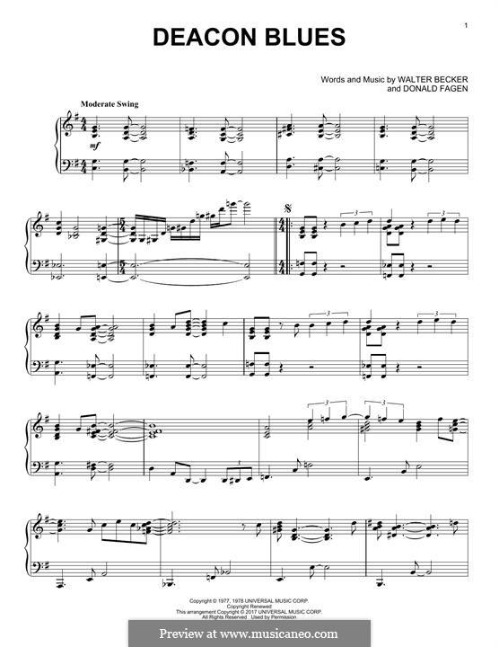 Deacon Blues (Steely Dan): Para Piano by Donald Fagen, Walter Becker