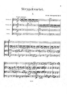 String Quartet in C Minor, Op.6: Partitura completa by Joachim Neergaard