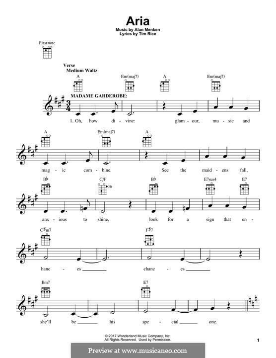 Aria: para ukulele by Alan Menken