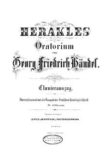 Hercules, HWV 60: Partitura Piano-vocal by Georg Friedrich Händel