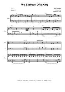 The Birthday of a King: para quartetos de cordas by William Harold Neidlinger
