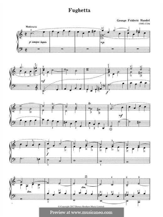 Fughetta: Fughetta by Georg Friedrich Händel