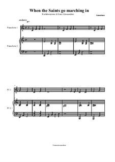 When the Saints Go Marching in: Para Piano by folklore