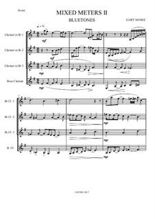 Bluetones – Clarinet quartet: Bluetones – Clarinet quartet by Gary Mosse