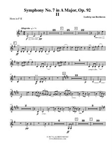 Movement II: Horn in F 2 (transposed part) by Ludwig van Beethoven