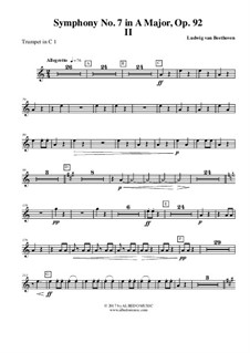 Movement II: Trumpete em C 1 (parte transposta) by Ludwig van Beethoven
