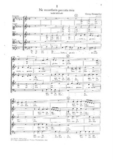 Three Motets: Three Motets by Georg Hemmerley