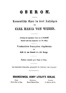 Complete Opera: Partitura Piano-vocal by Carl Maria von Weber