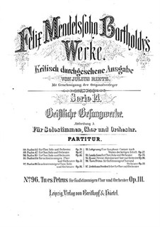 Tu es Petrus, Op.111: Tu es Petrus by Felix Mendelssohn-Bartholdy
