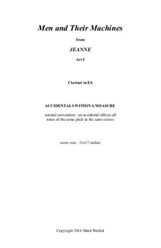 Jeanne: Men and Their Machines - clarinet part by Mark Warhol