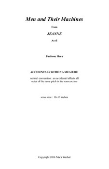 Jeanne: Men and Their Machines - baritone horn part by Mark Warhol