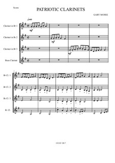 Patriotic Clarinets – Clarinet quartet: Patriotic Clarinets – Clarinet quartet by Unknown (works before 1850)