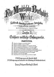 Festgesang an die Künstler, Op.68: For male choir and brass instruments by Felix Mendelssohn-Bartholdy