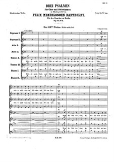 Three Psalms, Op.78: Psalm XLIII 'Richte mich, Gott' by Felix Mendelssohn-Bartholdy