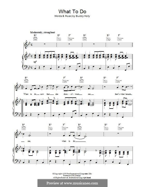 What To Do: Para vocais e piano (ou Guitarra) by Buddy Holly