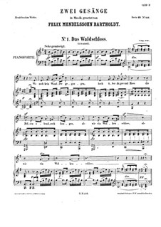 Two Songs, WoO 17: Partitura piano-vocal by Felix Mendelssohn-Bartholdy