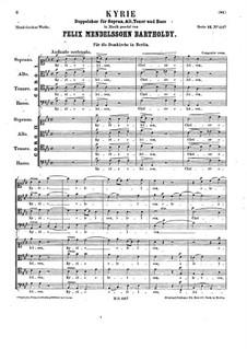 Kyrie, WoO 24: For double mixed choir by Felix Mendelssohn-Bartholdy