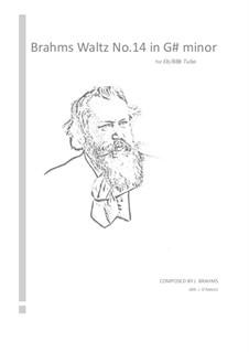 Waltz No.14: Arrangement for tuba by Johannes Brahms
