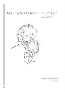 Waltz No.13: Arrangement for double bass by Johannes Brahms