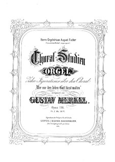 Choral-Studien for Organ, Op.116: Choral-Studien for Organ by Gustav Adolf Merkel