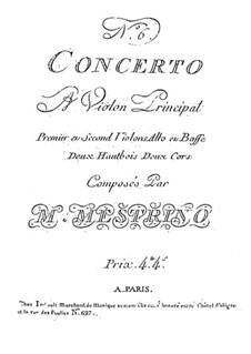 Violin Concerto No.6 in E Major: Violin Concerto No.6 in E Major by Niccolò Mestrino